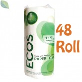 ECOS Tree-Free Paper Towels - 48 Roll Case | PL9954/08